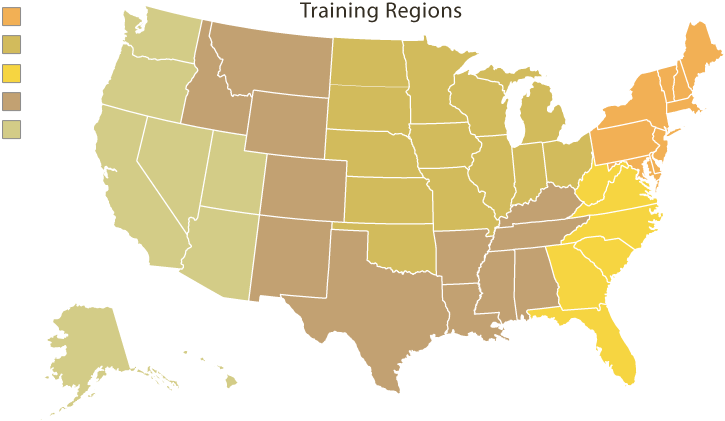 Bio Sculpture USA Training Regions