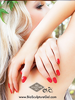 Poster 6 Blonde Red Nails