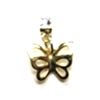 Earring Clip - Metal Butterfly Charm (Gold)