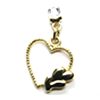 Earring Clip - Metal Hearts Charm (Gold)