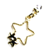 Earring Clip - Metal Stars Charm (Gold)