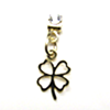 Earring Clip - Metal Clove Charm (Gold)
