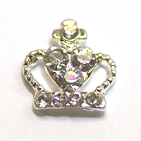 Nail Jewelry Silver Crown 2