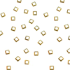 2.5mm Square Studs - Gold
