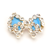 Nail Jewelry Studded Bow Blue