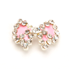 Nail Jewelry Studded Bow Pink