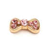 Nail Jewelry Gold - Pink Studded Bow
