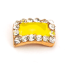 Nail Jewelry Pastel Yellow Square