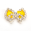 Nail Jewelry Studded Bow Yellow