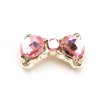 Nail Jewelry Pink Crystal Bow