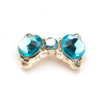 Nail Jewelry Blue Crystal Bow