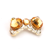 Nail Jewelry Gold Crystal Bow