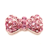 Nail Jewelry Pink Studded Bow