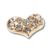 Nail Jewelry Gold Studded Heart