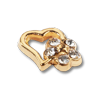 Nail Jewelery Gold Heart & Flower