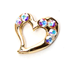 Metal Heart Charm Gold-Aurora (Large)