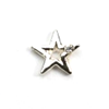 Metal Star Charm Silver-Crystal (Small)