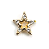 Metal Star Charm Gold-Crystal (Large)
