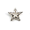 Metal Star Charm Silver-Crystal (Large)